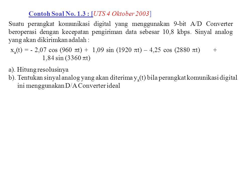 Contoh Soal No. 1.3 : [UTS 4 Oktober 2003]